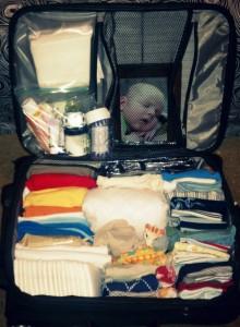inside suitcase