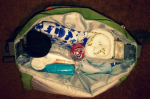 diaper bag open